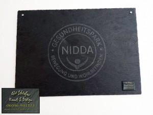 Fitnessstudio Gesundheitspark Nidda - Schiefer Firmenschild
