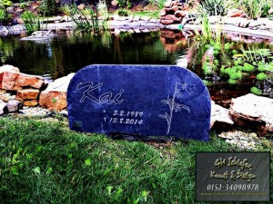 Grabsteinplatte aus Naturschiefer