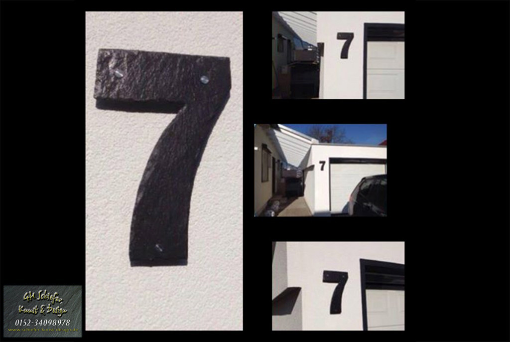 Schiefer Hausnummern XXL