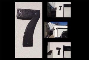 Hausnummern aus Naturschiefer