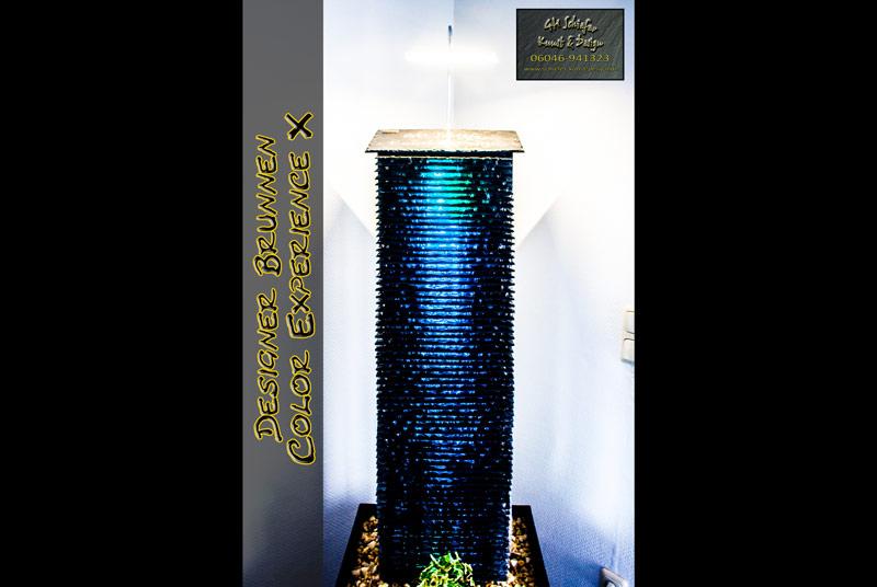 Designer Brunnen Blau grün