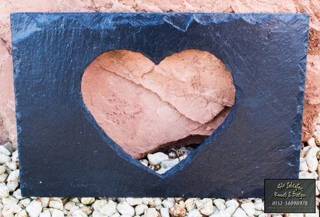 Herzausschnitt, Gravur möglich