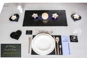 Schiefer Tischdeko, Platzset, Tischset
