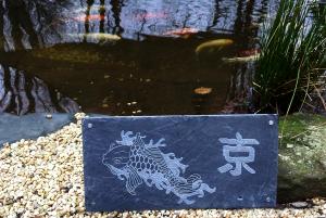 Motivplatte Koi, die perfekte Geschenkidee für Koiliebhaber
