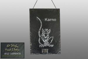 Motivplatte aus Schiefer mit Gravur