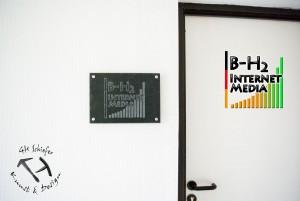 Türschild, Firmenschild oder Namensschild aus Schiefer