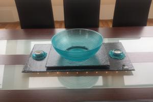 Tischdeko - Set aus Schiefer