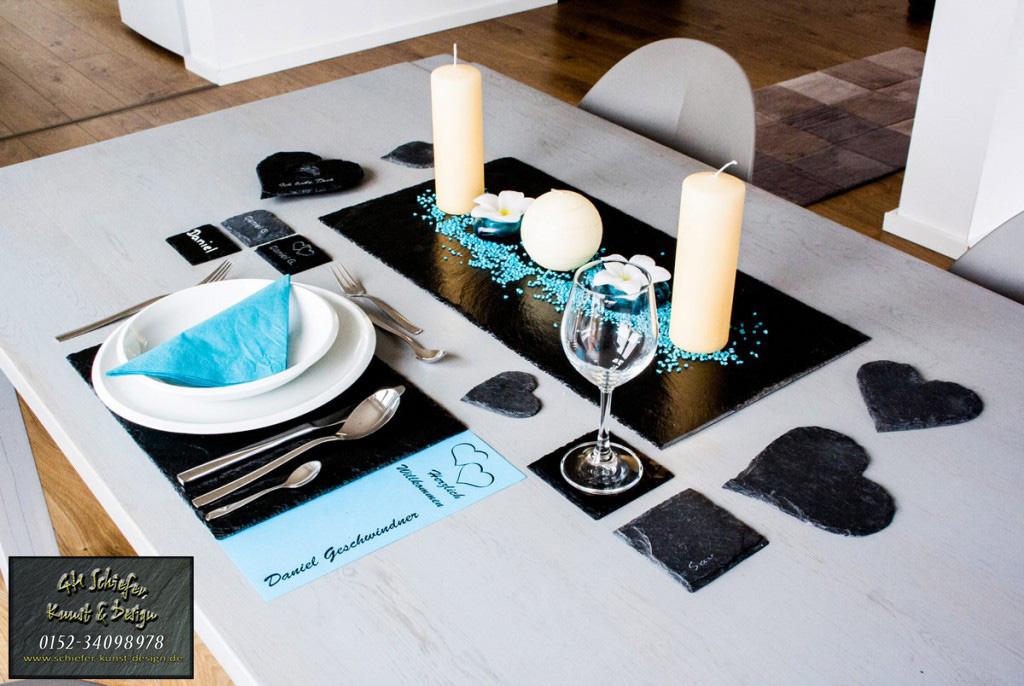 Schiefer Tischset, Platzset