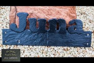 Wandschmuck Namensplatte
