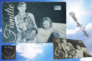 Schieferbild, Familienbild auf Schiefer