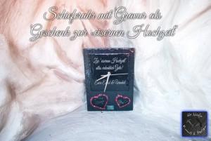 Schiefer Uhr - Schieferuhr mit Gravur, Geschenk zur eisernen Hochzeit