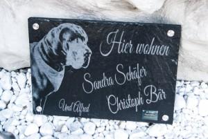 Türschild mit deutscher Dogge