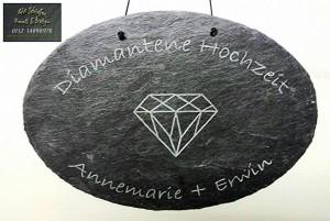 Geschenk, Geschenkidee, Geschenkartikel zur Diamantene Hochzeit
