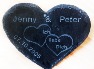 Partnerherz Jenny mit Gravur