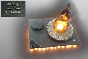 Buddha Teelicht und Räucherstäbchenhalter