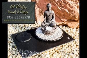 Schiefer Buddha beleuchteter Teelichthalter, Räucherstäbchenhalter