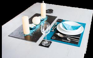 Tischset aus Schiefer