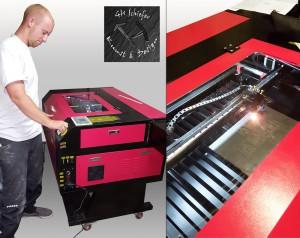 Laser Gravuren auf Schiefer, Holz, Plexiglas, Spiegel