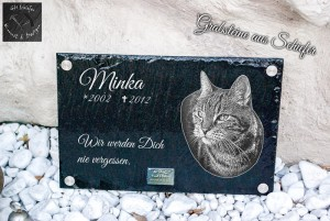 Minka Katzen-Tiergedenkstein-Tiergrabstein