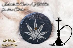 Shisha-Ascheteller-Kohleteller aus Schiefer mit individueller Gravur