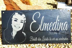 Grabstein oder Gedenkstein mit Bild Elmedina