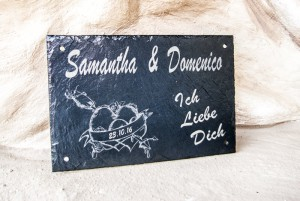 Partnerplatten, Samatha und Domenico - Partnergeschenke