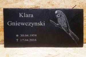 Grabsteinplatte mit Bildgravur